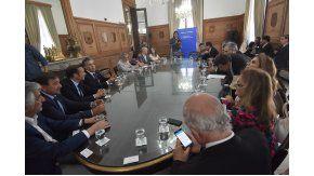 Los gobernadores en Casa Rosada.