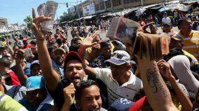 Protestas en Venezuela por la falta de dinero en efectivo