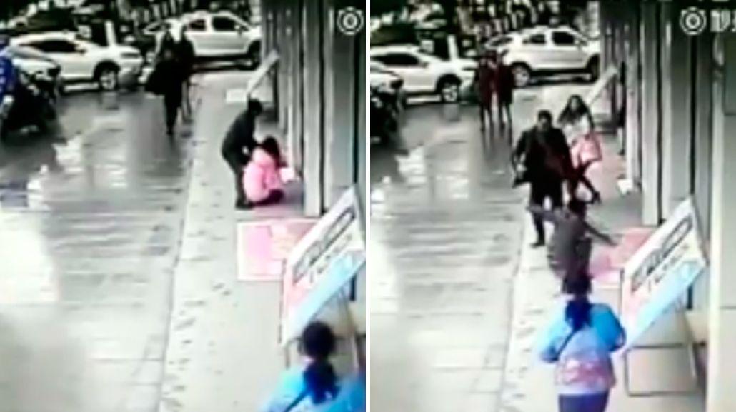 El ladrón recibió una brutal golpiza