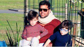 Ricky Martin, junto a sus hijos Matteo y Valentino