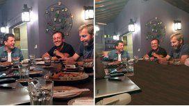 La cena con y sin sushi de Massa y Frigerio