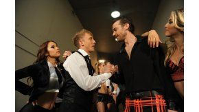 Pedro y El Polaco, en la apertura de la final del Bailando
