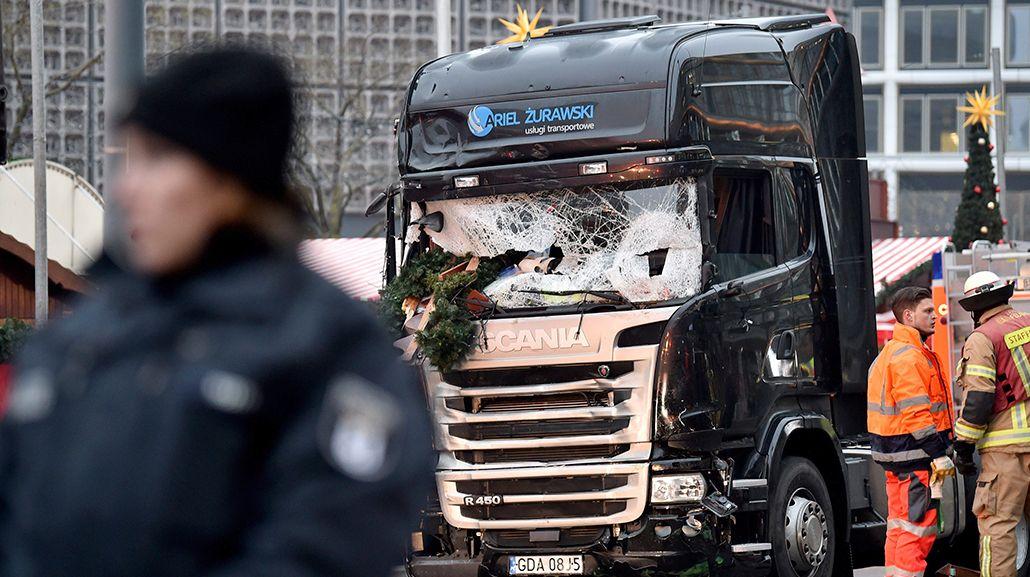 Así quedó el camión del atentado en Berlín