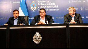Mario Quintana, Jorge Triaca y Rogelio Frigerio