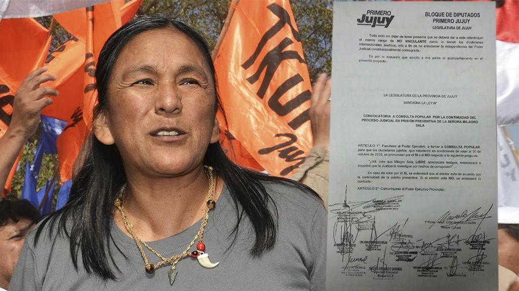 Jujuy quiere determinar por consulta popular si Sala debe estar presa
