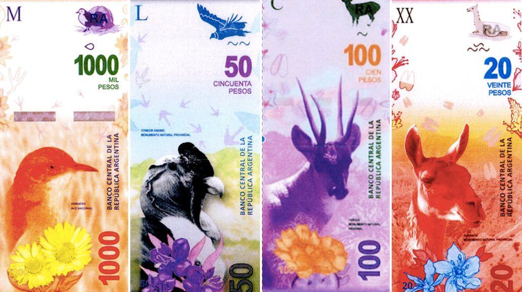En 2017 reemplazarán los billetes con próceres por otros con animales