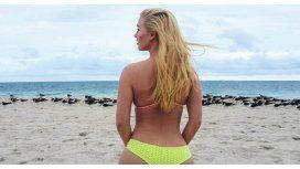 La foto de Vesta Lugg en una playa de Miami