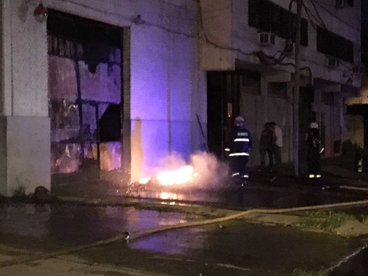 Incendio en San Andrés