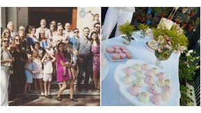 Emilia Attias y el Turco Naim bautizaron a su hija Gina.