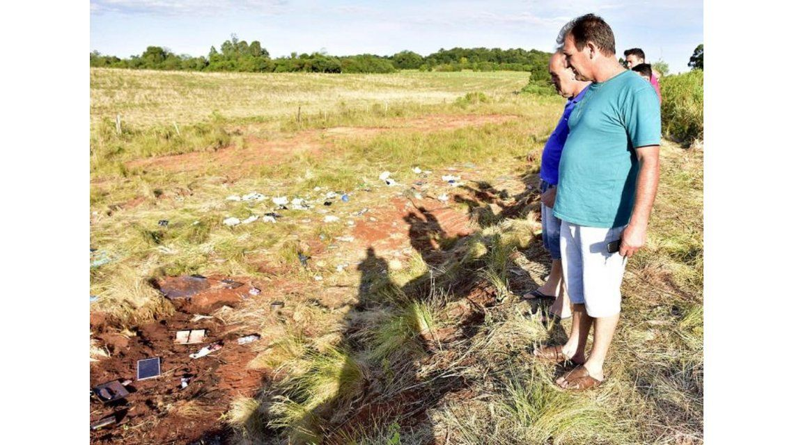 Lugar del accidente en Brasil