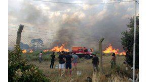 Voraz incendio en Cariló y Valeria del Mar