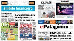 Tapas de diarios del 15 de diciembre de 2016