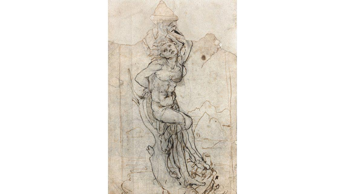Un jubilado halló en su casa un dibujo de Da Vinci