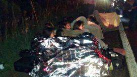 Los estudiantes pasaron la noche a la intemperie