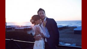 Nicolás Vázquez y Gime Accardi, enamorados en su casamiento.