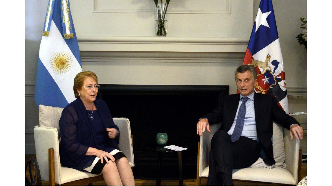 Macri recibió a su par de Chile en la Quinta de Olivos
