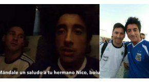 Santiago Vázquez y Lionel Messi