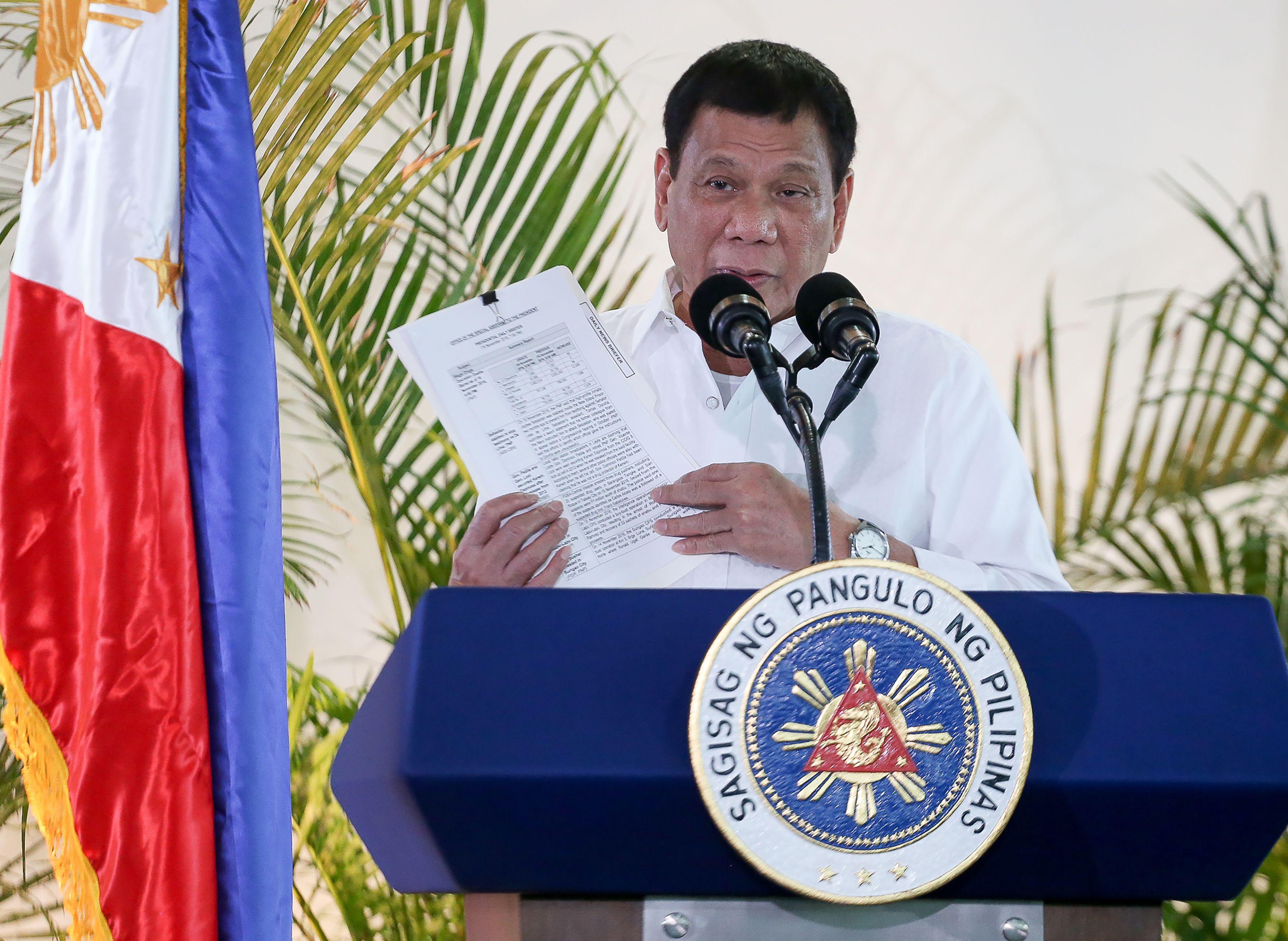 El presidente de Filipinas aseguró que mató a delincuentes