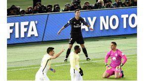 Ronaldo celebra un gol que primero anularían y después volverían a convalidar