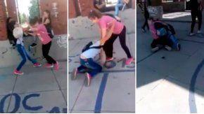 Dos alumnas se pelearon afuera del colegio
