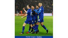 El festejo del Leicester