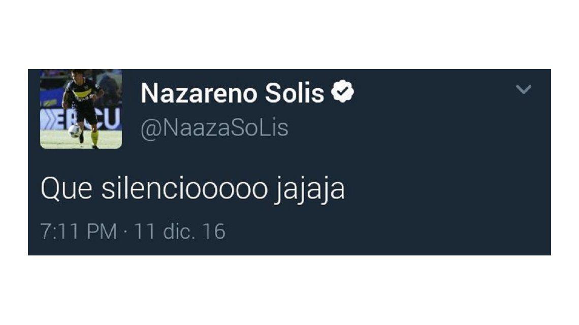 El violento tuit de un jugador de Boca para reírse de River tras el Superclásico