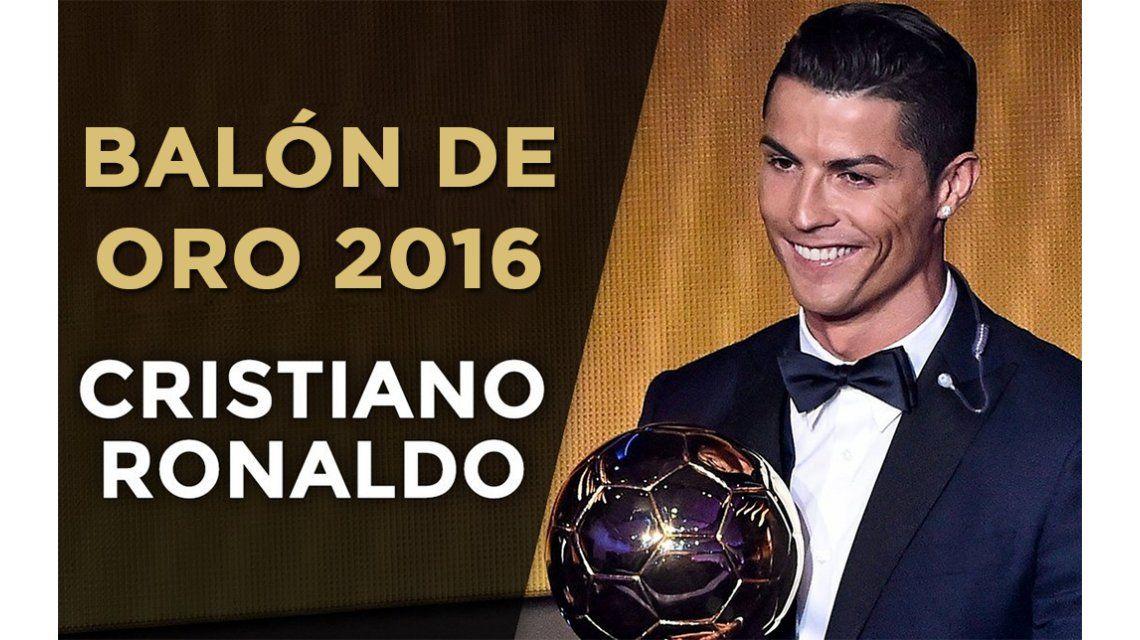 Cristiano Ronaldo ganó su cuarto Balón de Oro y quedó a uno de Messi