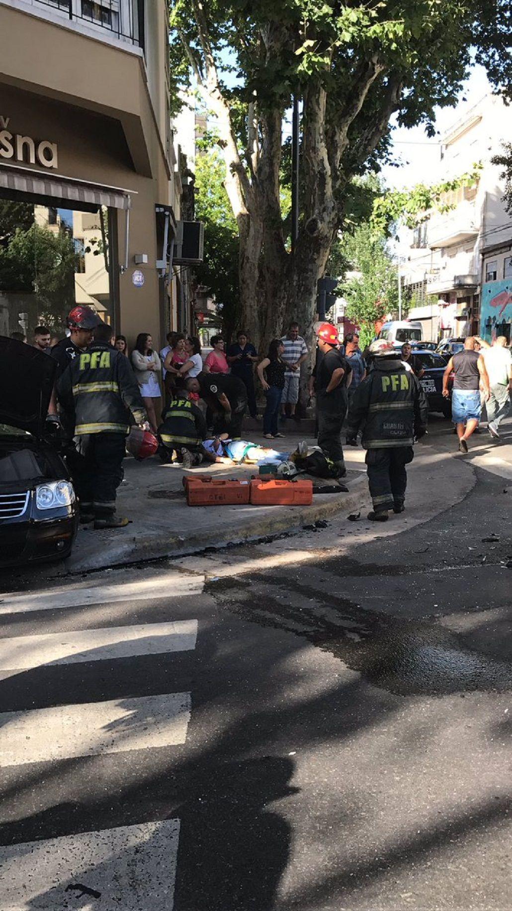 Choque en Palermo: hay al menos 3 heridos