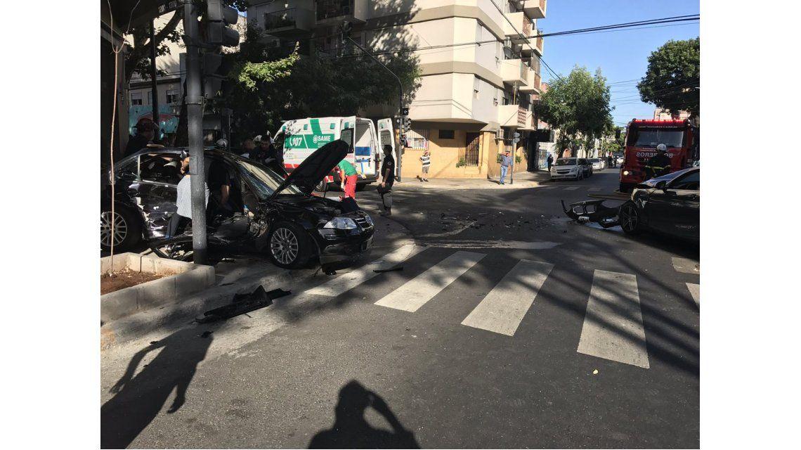 Dos autos chocaron en Palermo.