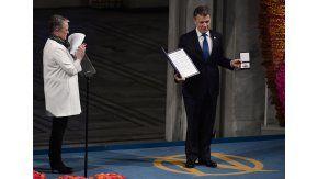 Juan Manuel Santos recibió el Nobel de la Paz