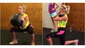 Ailén Bechara mostró cómo es su rutina de ejercicios