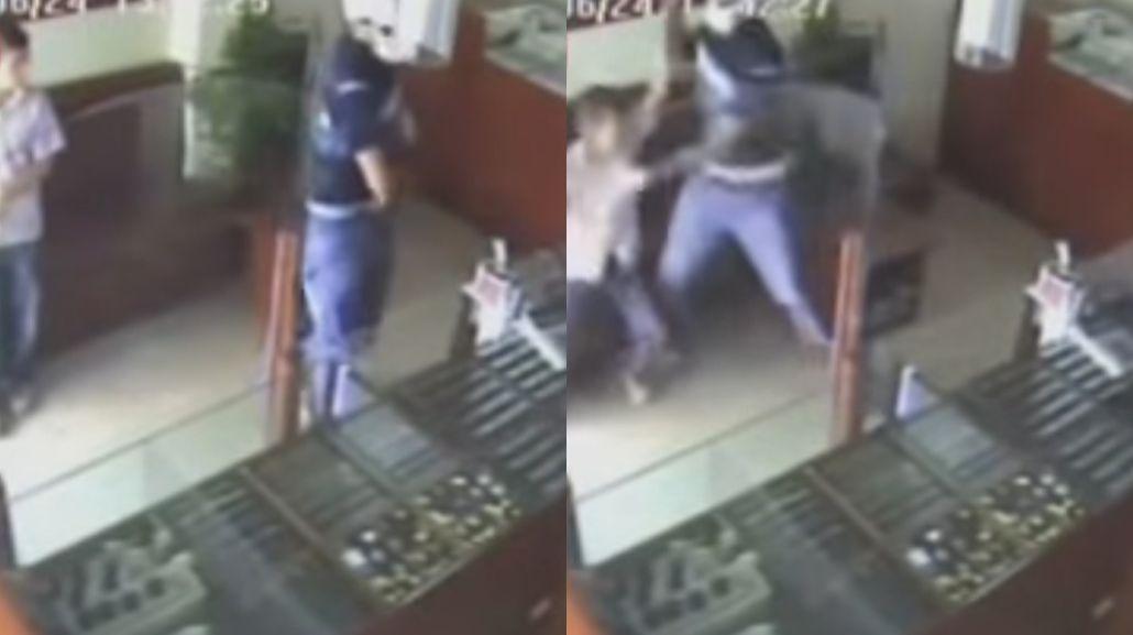 El niño karateca impidió un robo
