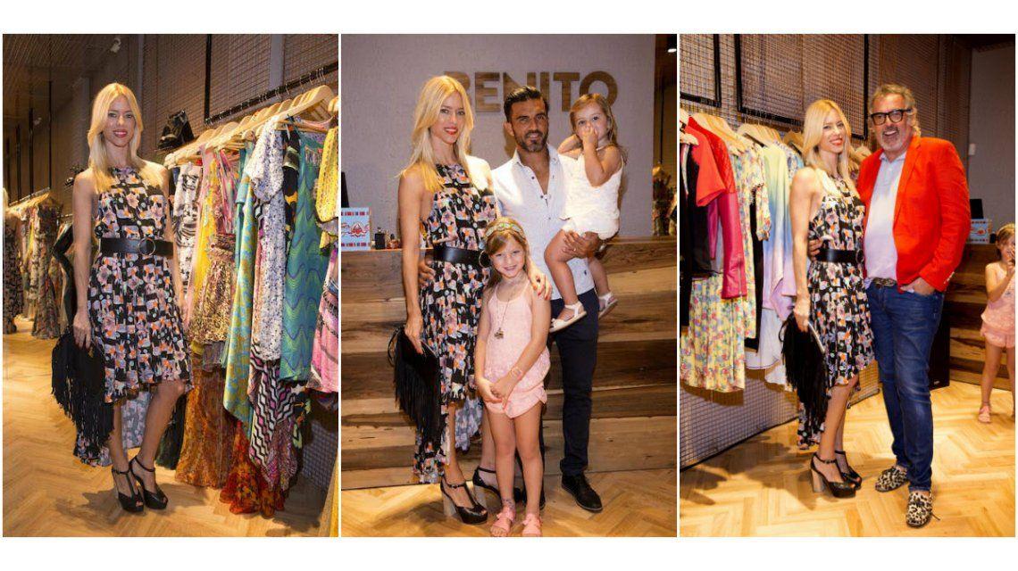 Nicole Neumann y Fabián Cubero se mostraron juntos con sus hijas.