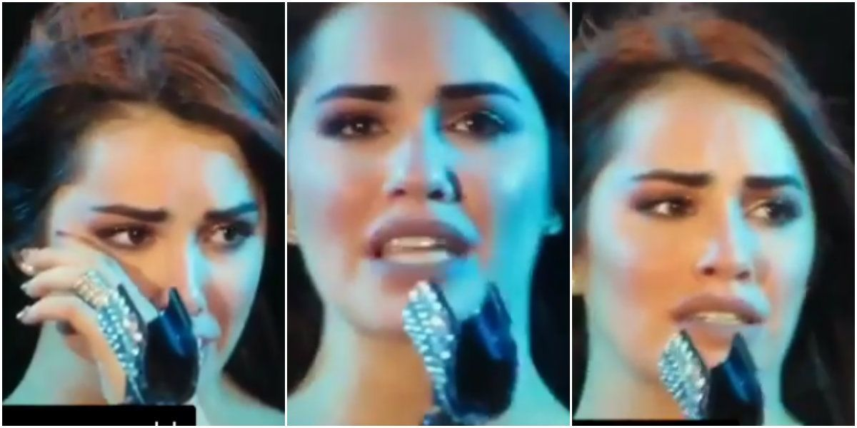 Lali Espósito quebró en llanto en pleno show.