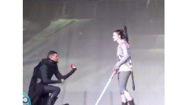 Actuaban una escena de Star Wars y le pidió casamiento