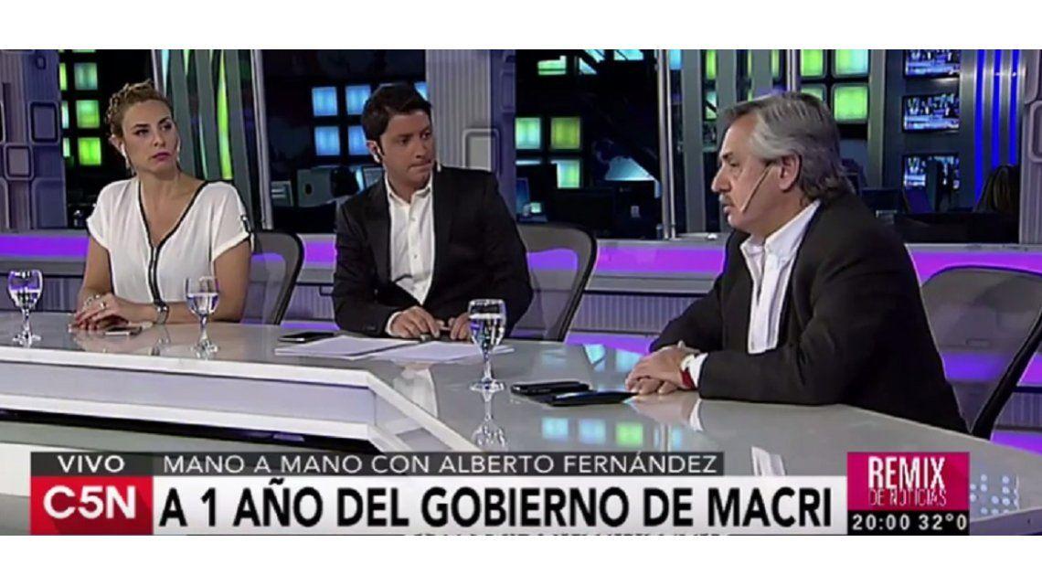 Alberto Fernández, sobre Macri: Estamos en manos de un psicótico