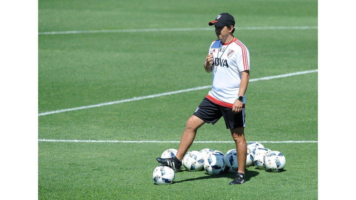 Marcelo Gallardo prepara a sus jugadores para la Supercopa Argetina