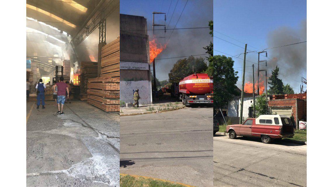 Incendio en madedera