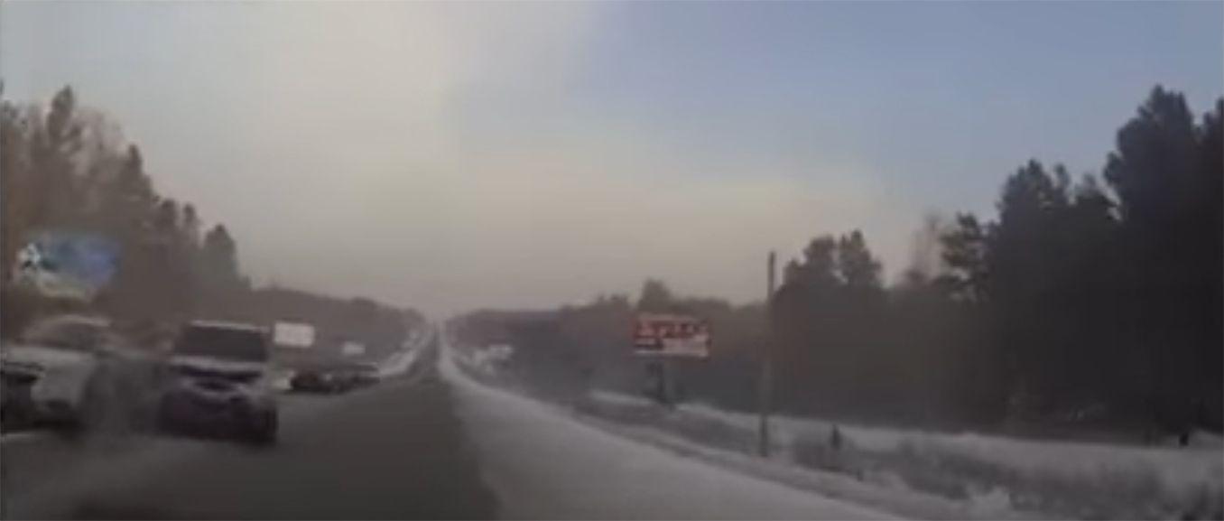 Un conductor grabó el momento exacto de su muerte en plena ruta