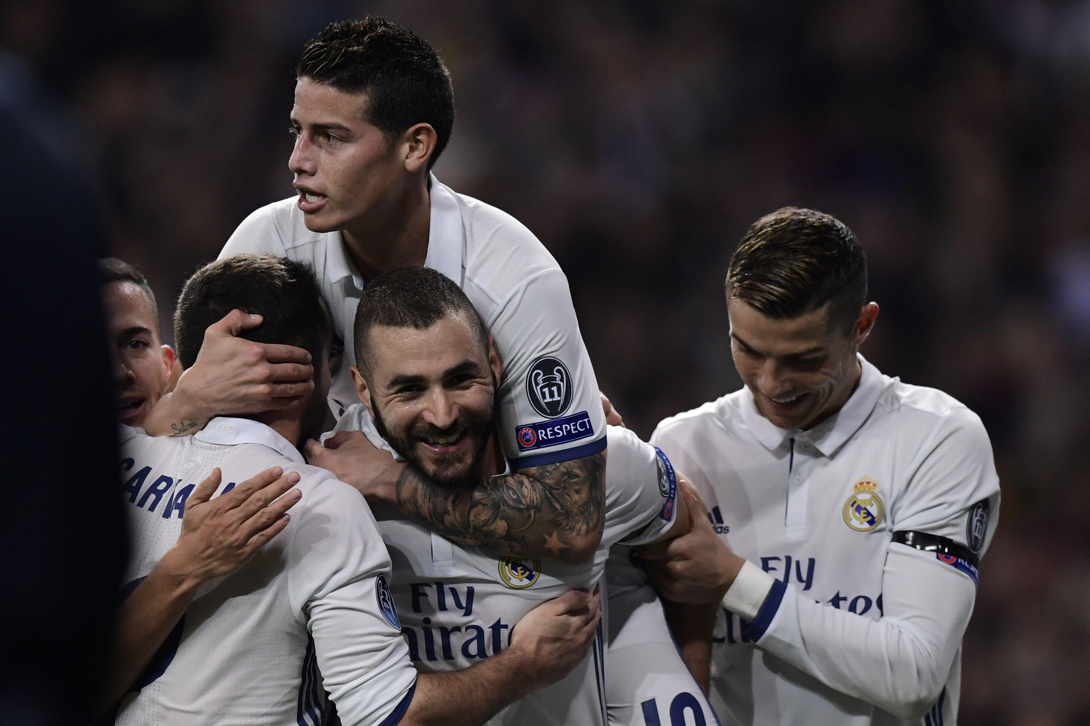 El festejo de Real Madrid ante el Dortmund