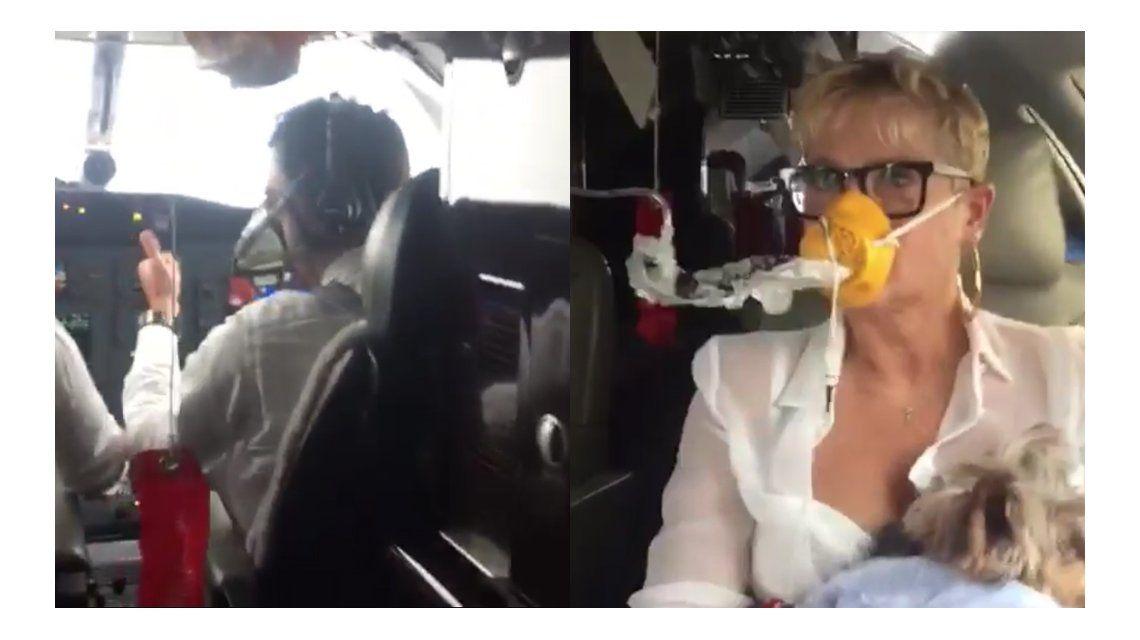 El avión de Xuxa fue alcanzado por un rayo