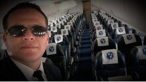 Este era Miguel Quiroga, piloto del avión de Lamia