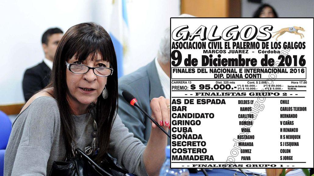 Polémico: galgueros dedicaron la última carrera a la diputada Diana Conti