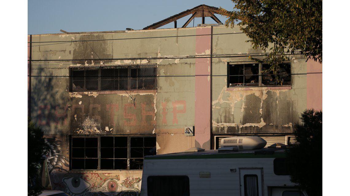 El edificio tras el incendio