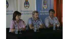 Bullrich, Frigerio y Prat Gay brindaron una distendida conferencia de prensa
