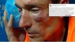 El patético mensaje de Sarmiento tras la agresión al árbitro.