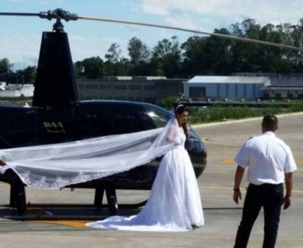 Una novia se mató al caer el helicóptero en el que iba a su boda - Crédito: O Globo
