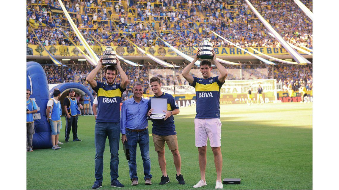 Salud, campeones: Boca homenajeó a los héroes de la Copa Davis