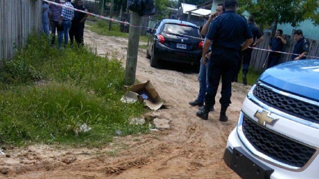 El auto fue abandonado con la beba a las pocas cuadras del lugar