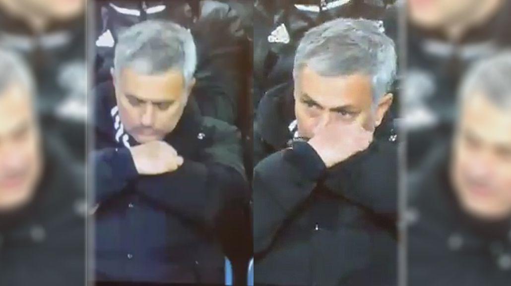 ¿Se drogó? El polémico gesto de José Mourinho en pleno partido